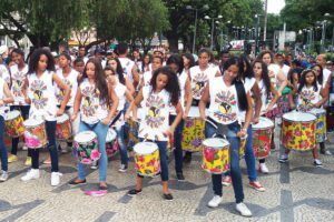 Group of drummers in Belo Horizonte