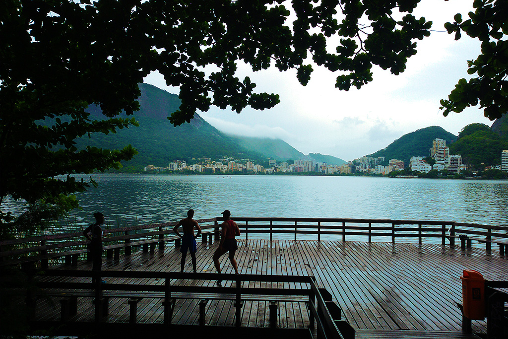 Lagoa Rodrigo de Freitas in Rio de Janeiro, a part of the city that is not rough.