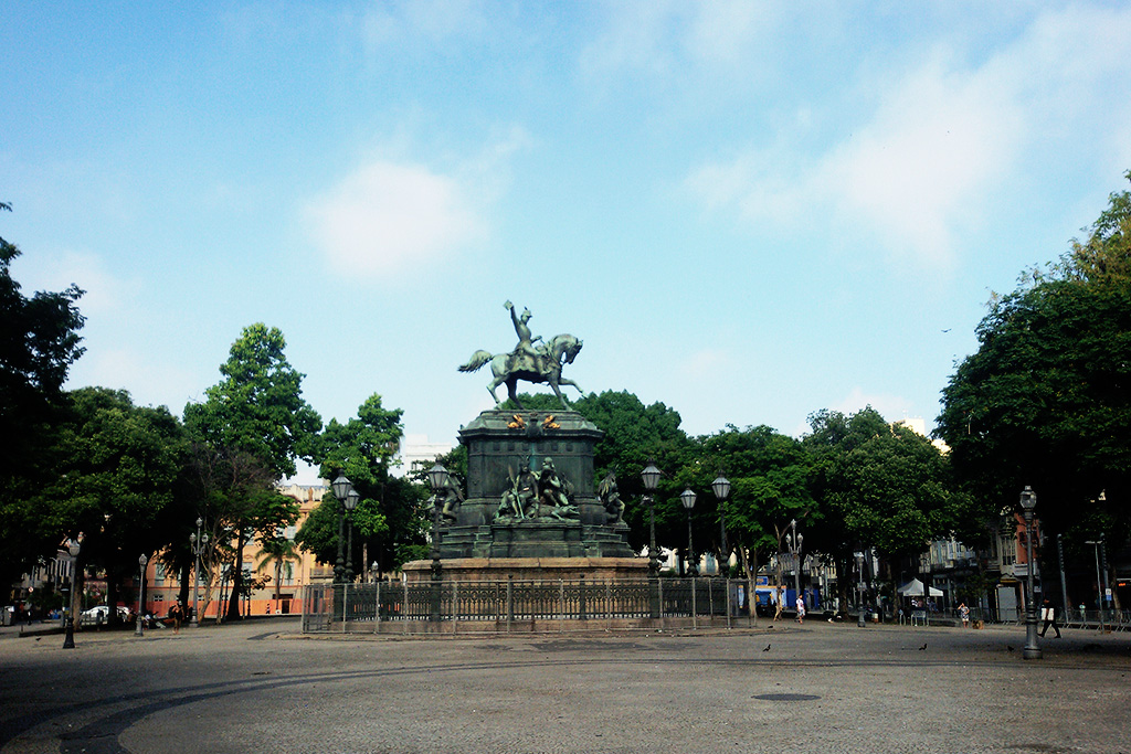 Statue of Don Pedro I on the Praça Tiradentes