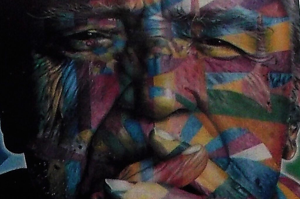 Oscar Niemeyer painted by Eduardo Kobra