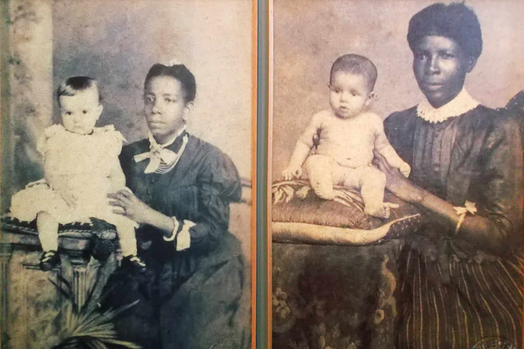 Photos of black nannies with white babies
