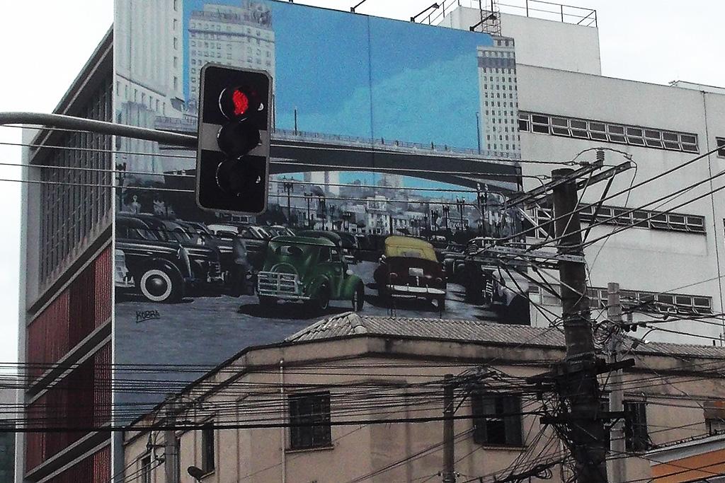 Mural by Eduardo Kobra in Sao Paulo