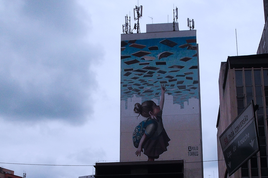 Mural by Apolo Torres in Sao Paulo
