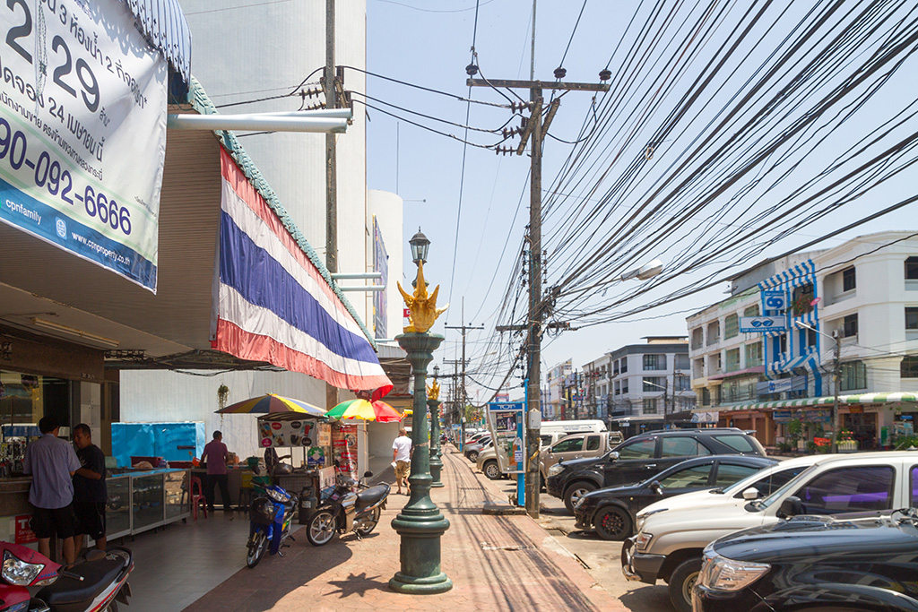 Street in Krabi Town, gateway to Ao Nang and the Islands in the Andaman Sea