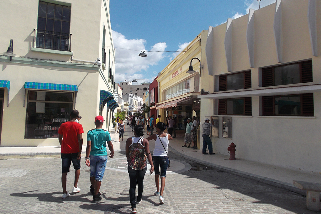 Shopping Street in Camagüey.