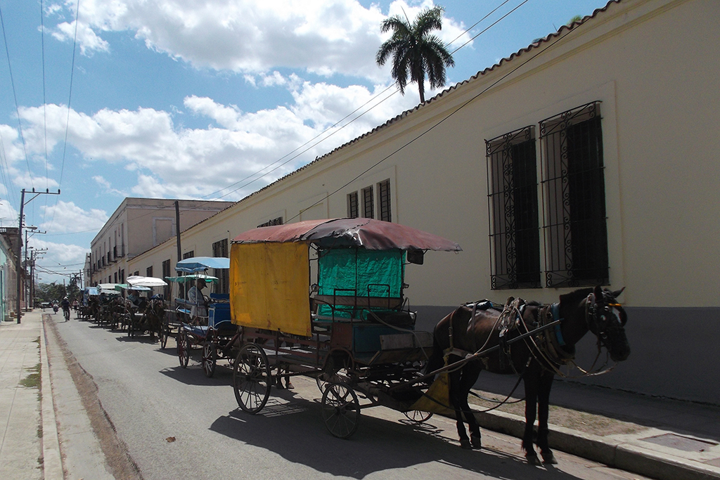 Horse and carriage in Camagüey