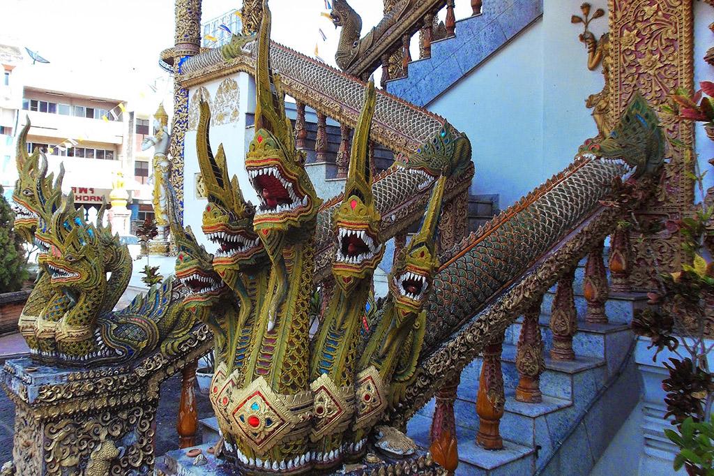 Detail at Wat Buppharam in Chiang Mai