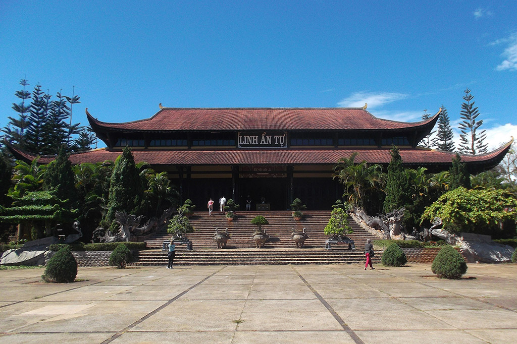 Linh An Tu temple on the outskirts of Da Lat in Vietnam