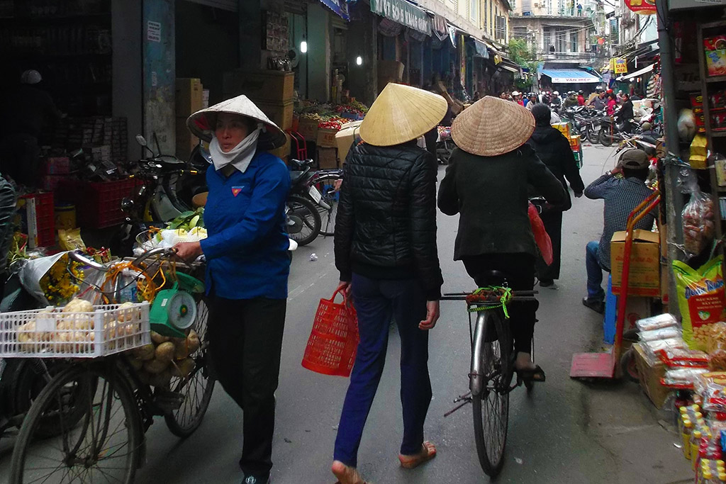 Street Scene in Hanoi, Vietnam's capital - on my way to the mysterious Halong Bay.