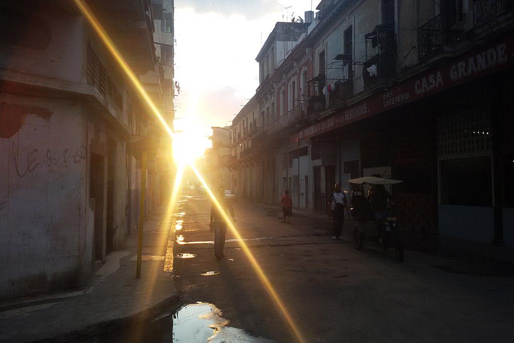 Street in Havana at Dusk