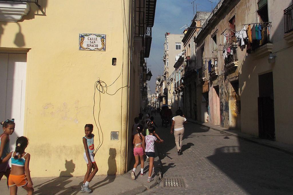 Calle San Ignacio in the historic center of Havana