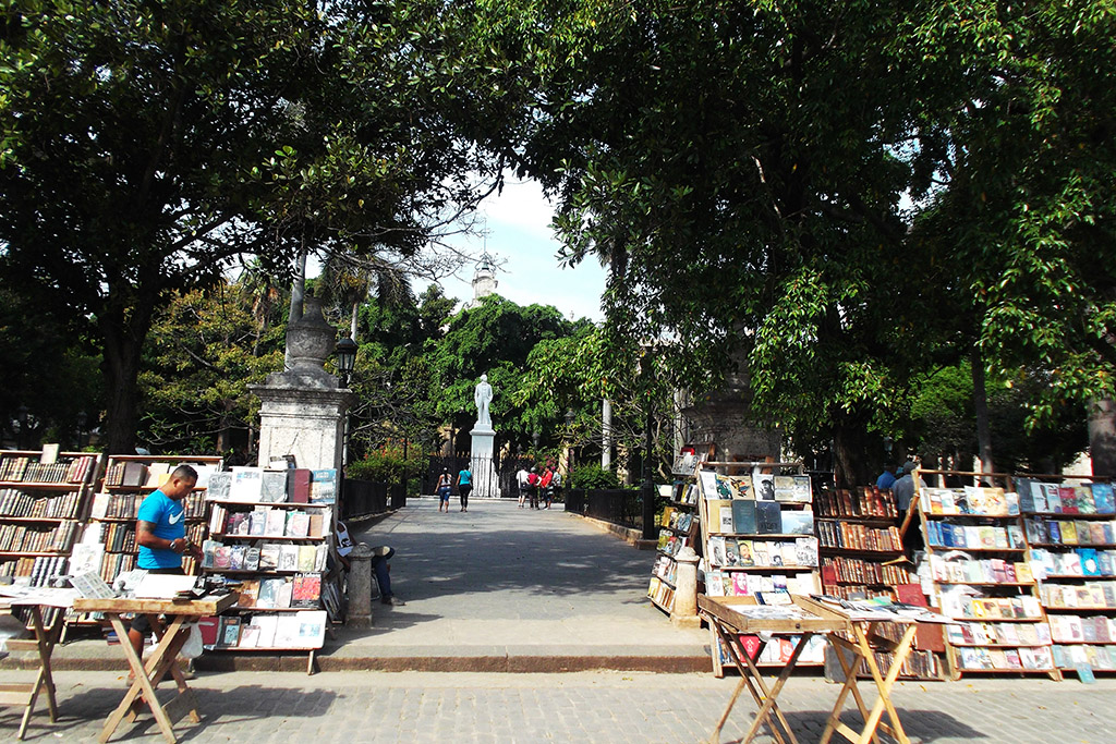Old books being sold around the Plaza de Armas in Havana