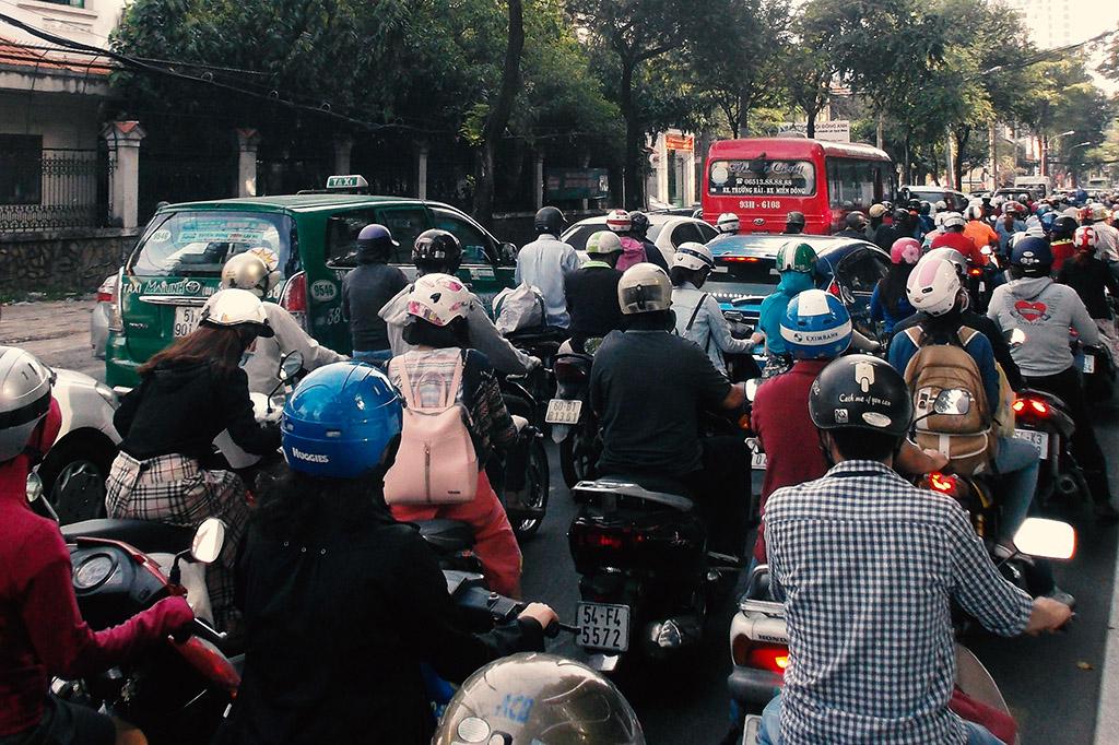 Traffic in Hồ Chí Minh City.