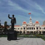 Ho Chi Minh Statue in Ho Chi Minh City in Vietnam
