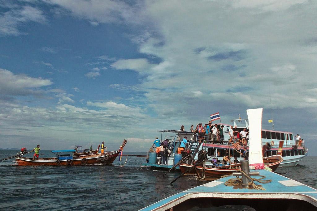 Arriving off shore Koh Jum in the Andaman Sea