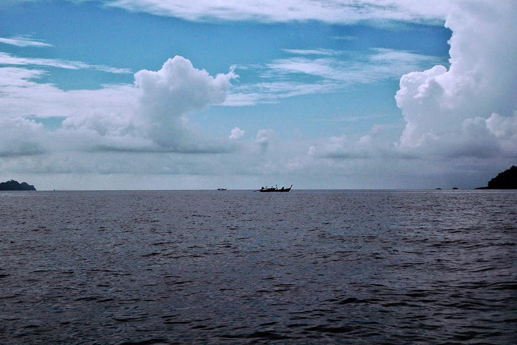 The Andaman Sea off the shore of Kho Lanta