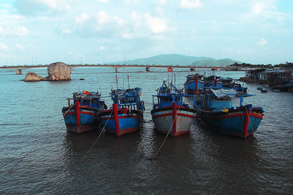 Boats in the bay of Nha Trang