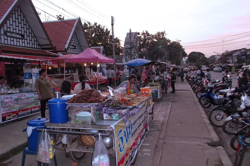 Food stalls in Sukhothai