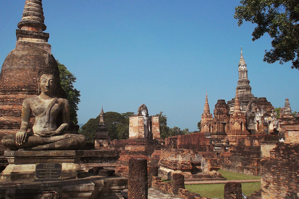 View of the Historic Park in Sukhothai