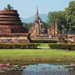 The archeologic park of Old Sukhothai, Thailand
