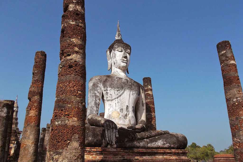 Buddha Statue at the Historic Park in Sukhothai