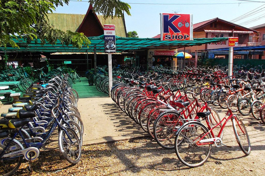 Bicycle stand in Sukhothai