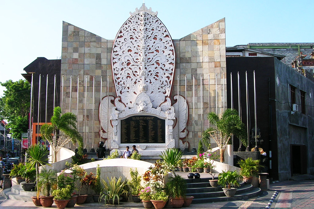 Memorial of the Bali bombing 2002 in Legian