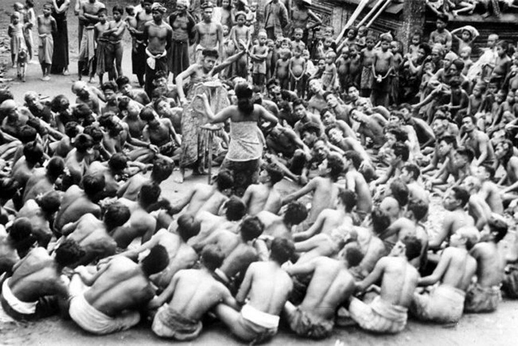 Kecak Dance in the past