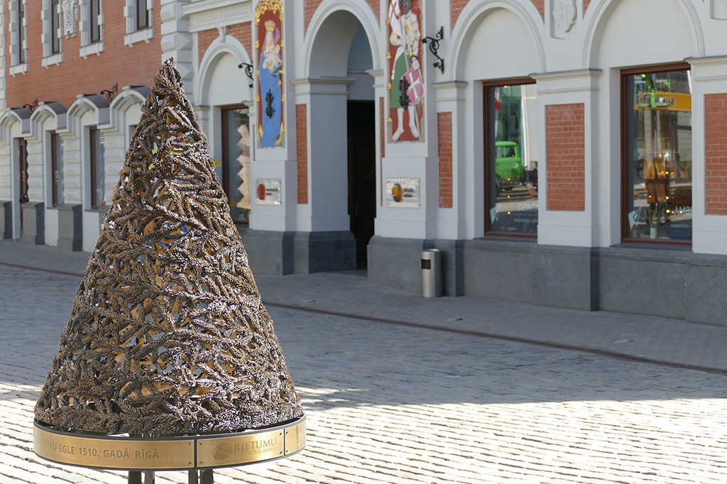 Memorial of the first Christmas Tree in Riga