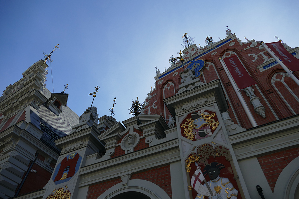 Latvian House of the Blackheads in RIGA, Latvia's entrancing capital. Seen on our guided tour.