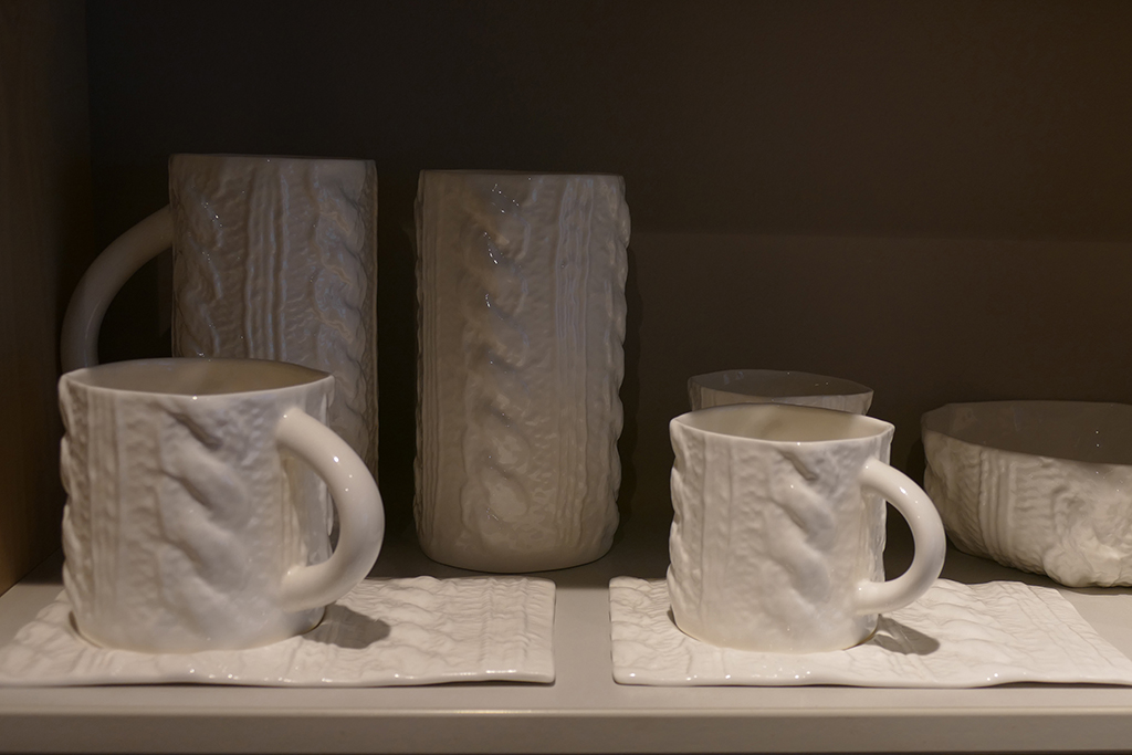 Cups in a store in Riga, Latvia