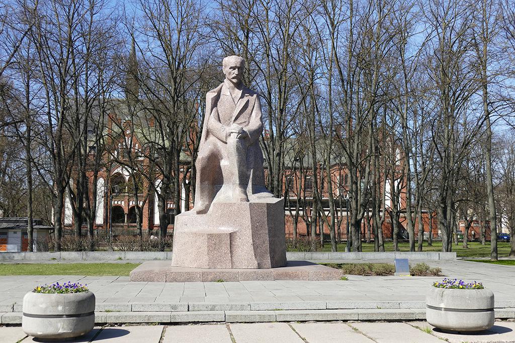 Statue of Janis Plieksans