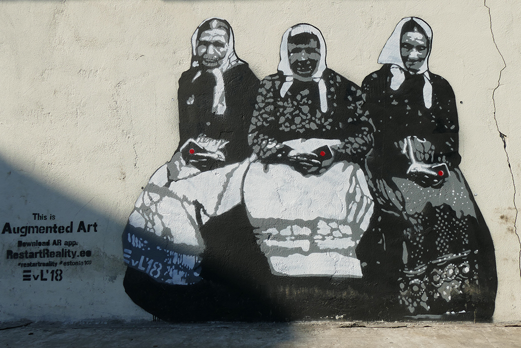 Graffiti in Riga, Latvia