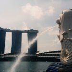 The Merlion, the most important landmark in the powerful city-state of Singapore