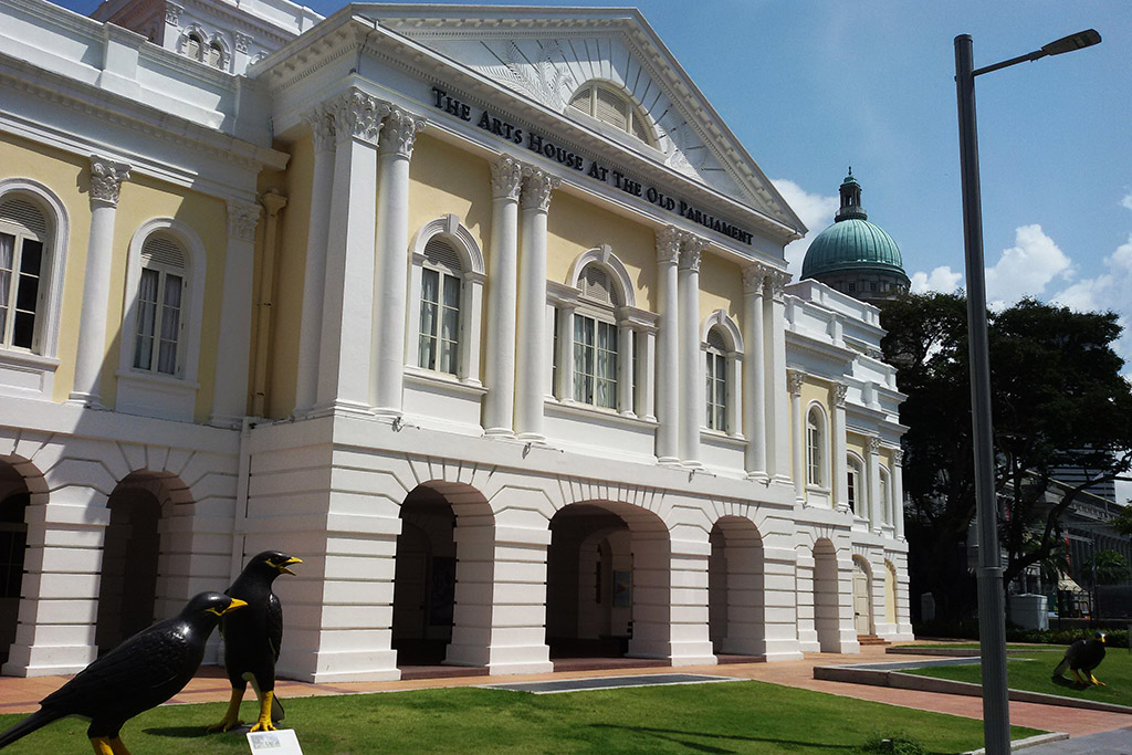 The Arts House, formerly Old Parliament House, in Singapore, the powerful city-state.