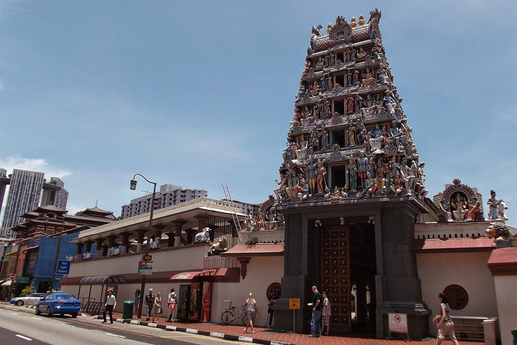 The Sri Mariamman Temple in Singapore