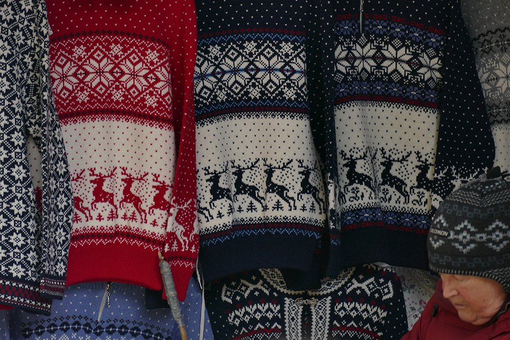 Sweaters in Tallinn, the city between the poles of history and creativity