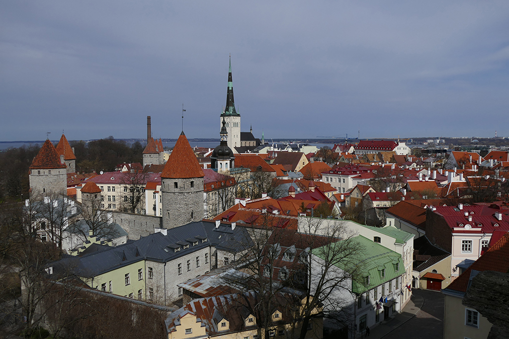 View of Tallinn's Historic Old Town