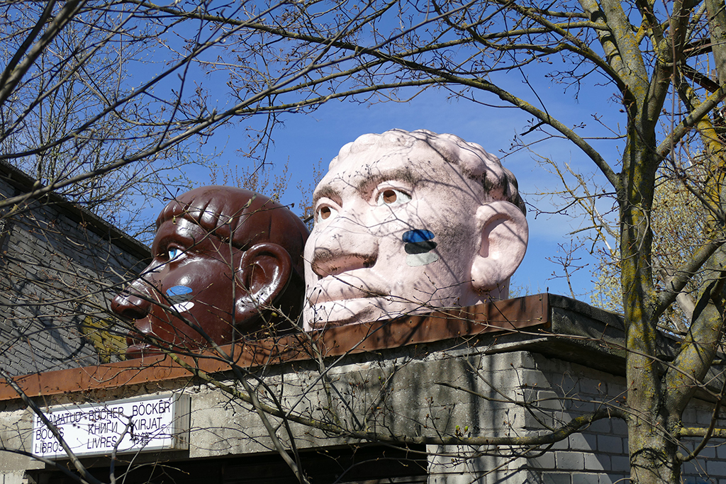 Gigantic Head Statues in Tallinn, the city between the poles of history and creativity