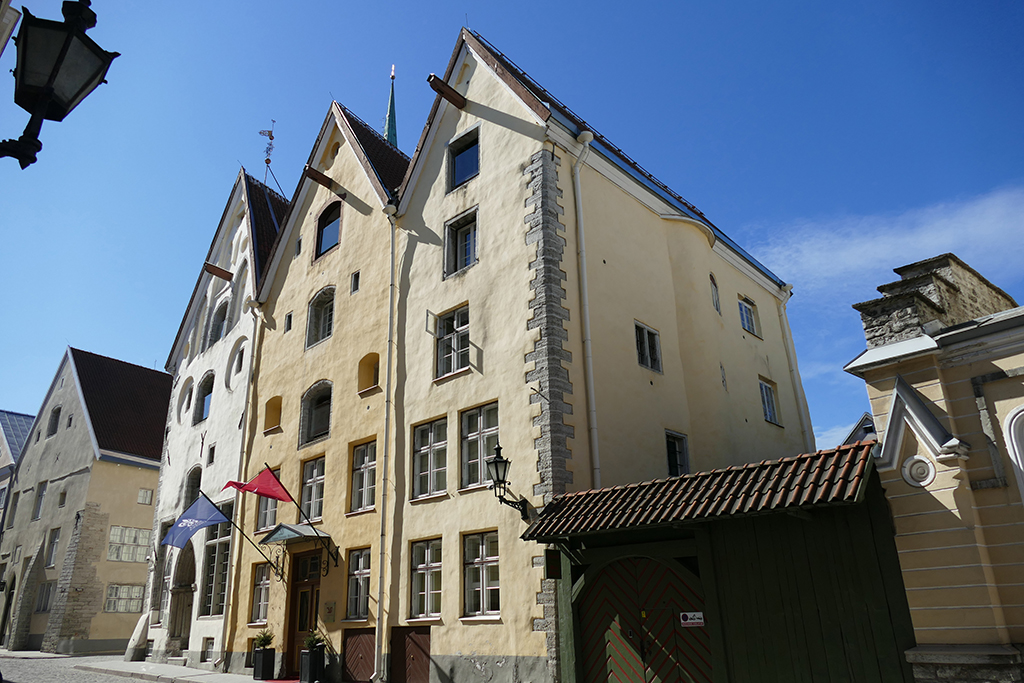 The three sisters building in Tallinn, the city between the poles of history and creativity