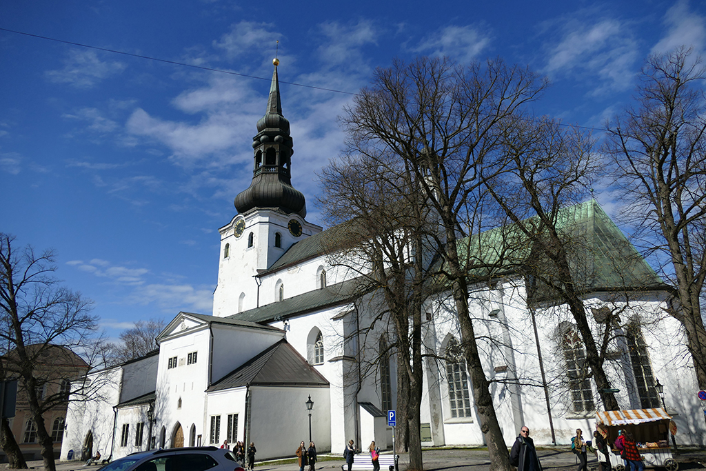 St. Mary's Cathedral in Tallinn, the city between the poles of history and creativity