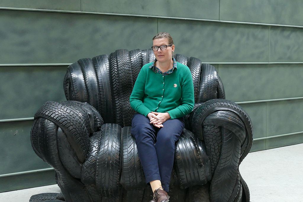 Renata Green at a museum of modern art in Tallinn, the city between the poles of history and creativity