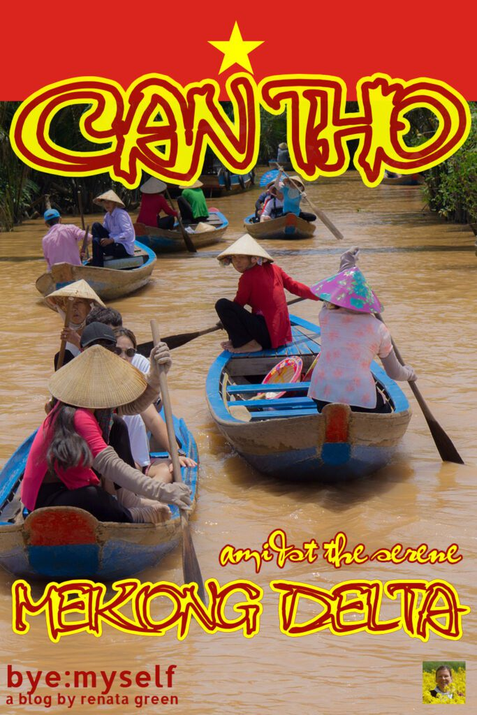 Pinnable Picture on the Post on Bustling CAN THO Amidst the Serene MEKONG DELTA