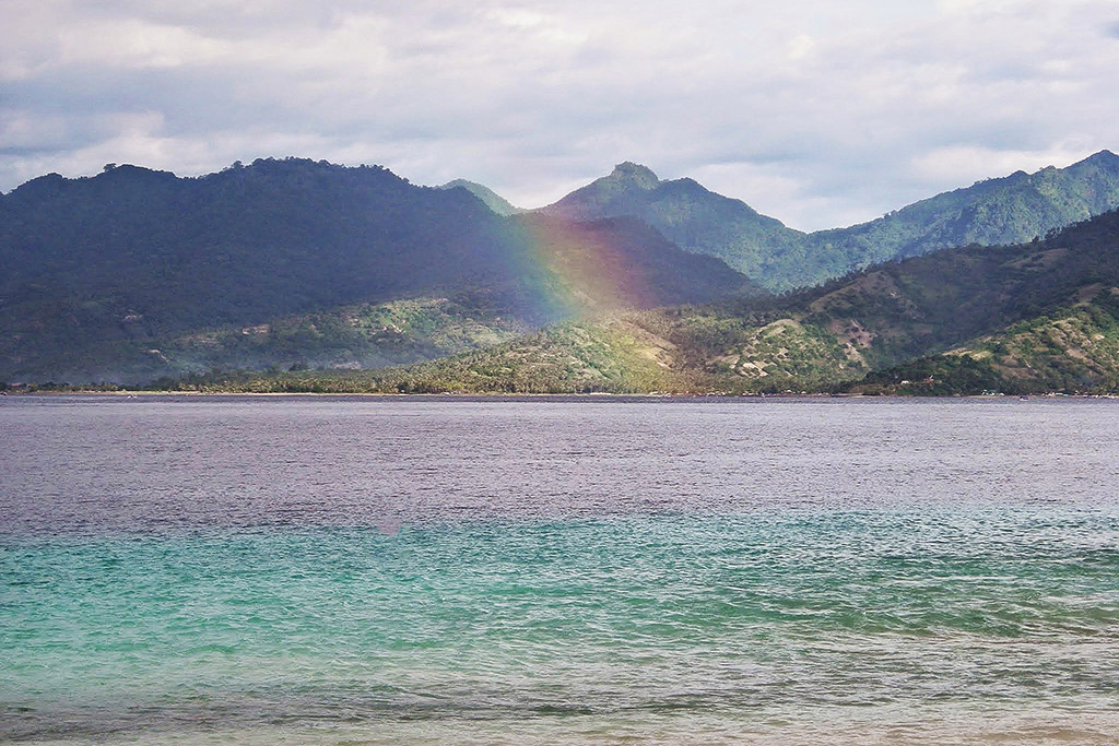 Rainbow over Lombok
