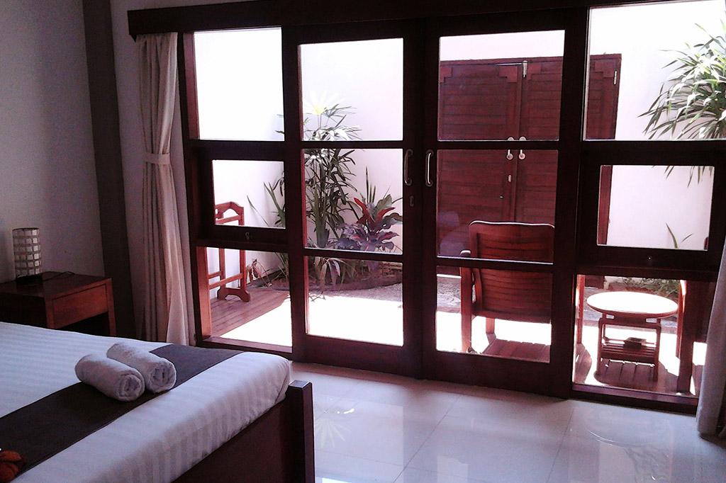 Hotel room on Gili Trawangan