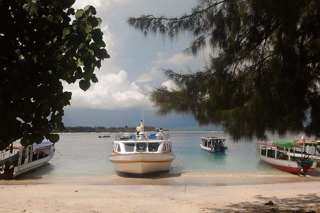 Boats on Gili Trawangan