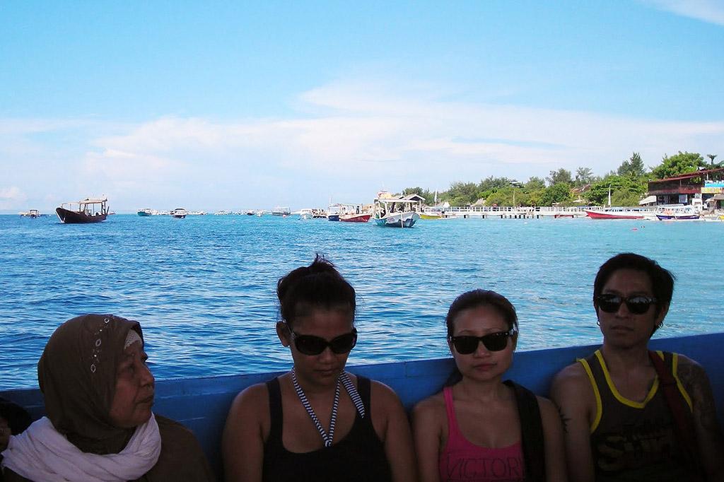 Boat between Gili Trawangan and Gili Meno.