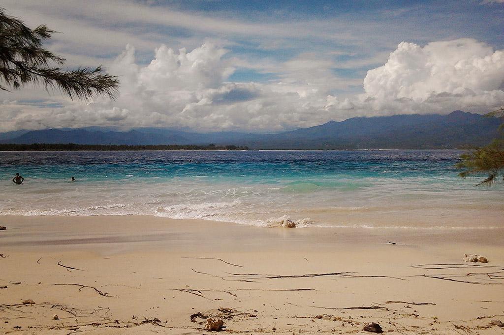 Bali sea between Gili Trawangan and Gili Meno.