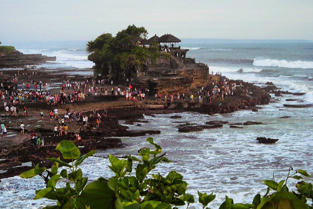 Tanah Lot north of Legian Beach