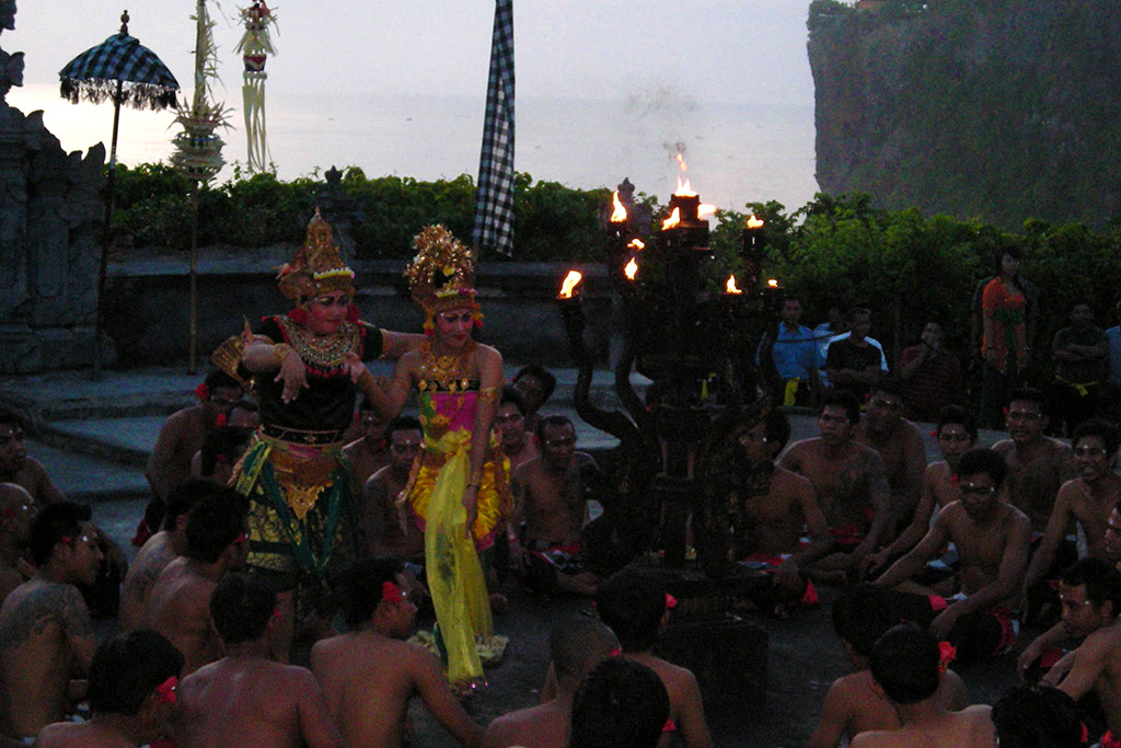 Kecak performance at Uluwatu